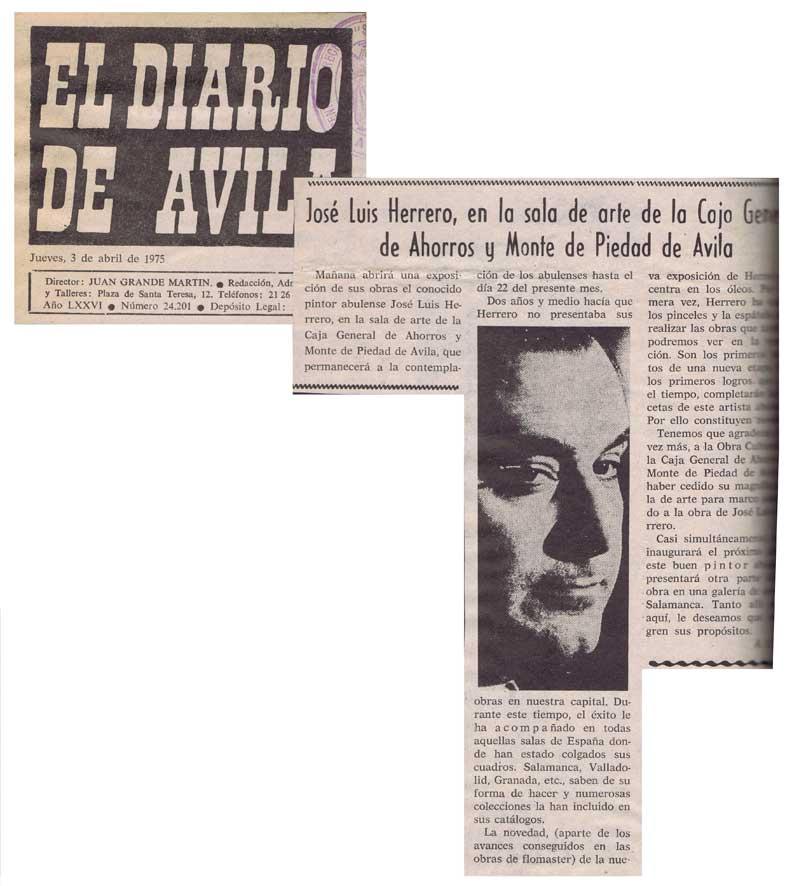 José Luis Herrero en la Sala de Arte de la Caja General de Ahorros y